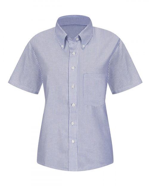 Red Kap SR61 Women's Executive Oxford Dress Shirt - Blue/ White Stripe - 20 #%20