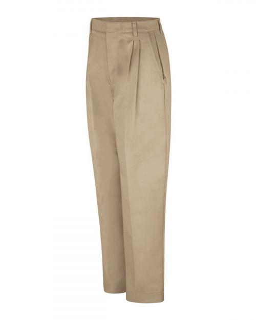 Red Kap PT39 Women's Pleated Twill Slacks - Khaki - 20 #%20