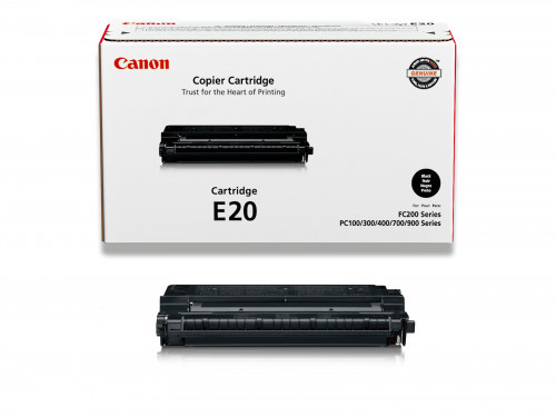 The Genuine (OEM) Canon Cartridge E20 (1492A002CA) Black Copier Toner Cartridge (includes Drum/Developer) is designed to produce consistent, sharp output from your Canon printer (see full compatibility below). The original name brand Canon Cartridge E20 1 #%20