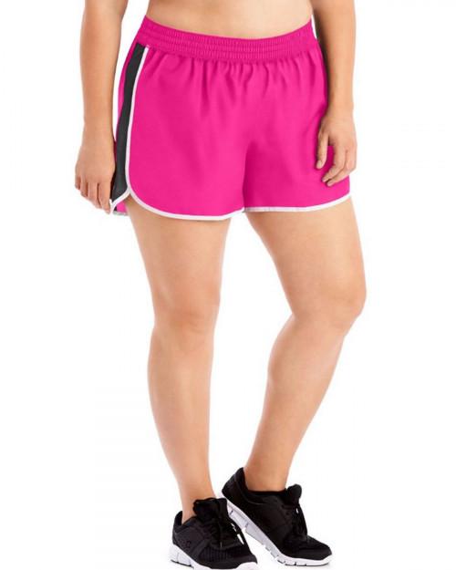 Just My Size OJ362 Women's Active Woven Run Shorts - Vivid Fuchsia/White Binding - 20 #%20