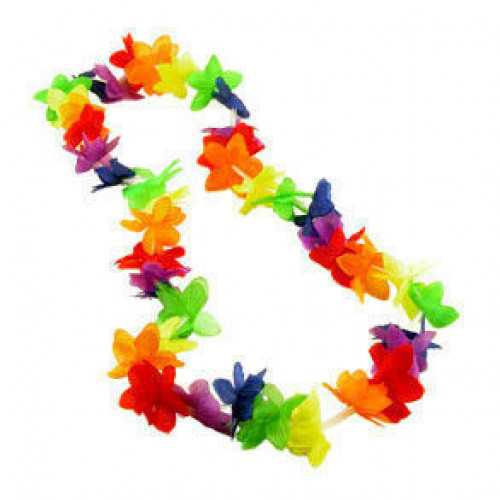 Hawaiian Rainbow Flower Lei - LGBT Gay and Lesbian Pride Party and Parade Accessory #%20