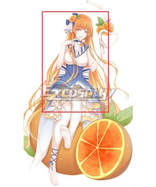 Food Contract Game Orange Juice Orange Cosplay Wig #food