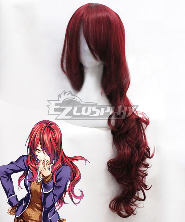 Food Wars Shokugeki no Soma Ni no Sara 90th Totsuki Generation Rindo Kobayashi Red Cosplay Wig #food