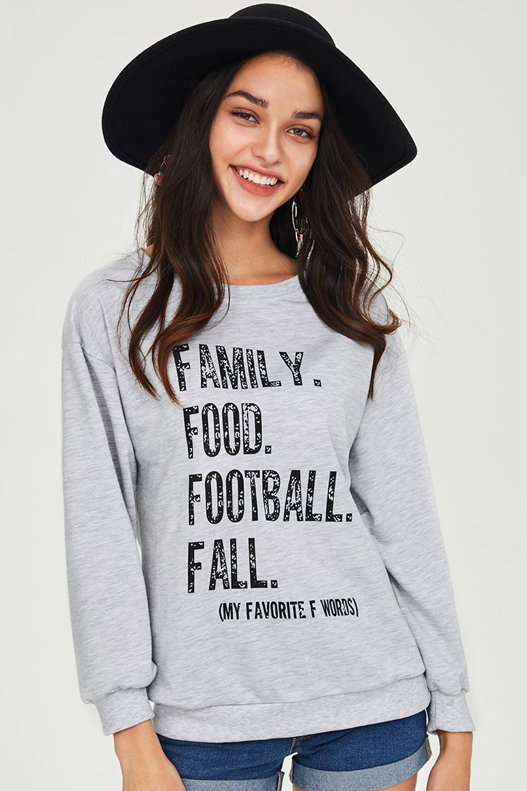 Family. Food. Football. Fall. What else does a girl need? Wear your four favorite loves with pride all season long. #food