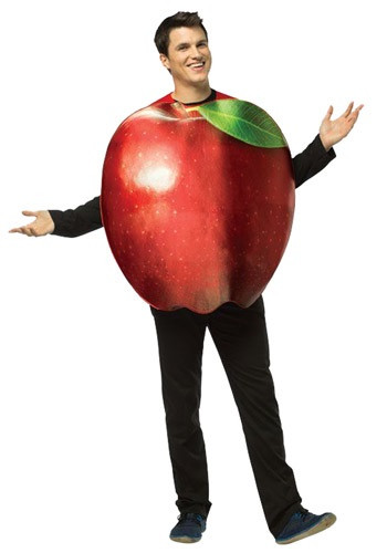 You and New York will be like bros when you're wearing this adult Get Real Apple costume. See what we did there? (You'll both be called the Big Apple). #food