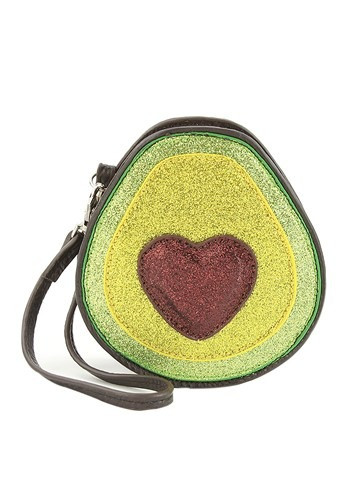 You know you LOVE avocados. Well put that love affair on display with this adorable Avocado Purse. Complete with strap, and a heart shaped seed of love, perfect for all occasions! #food
