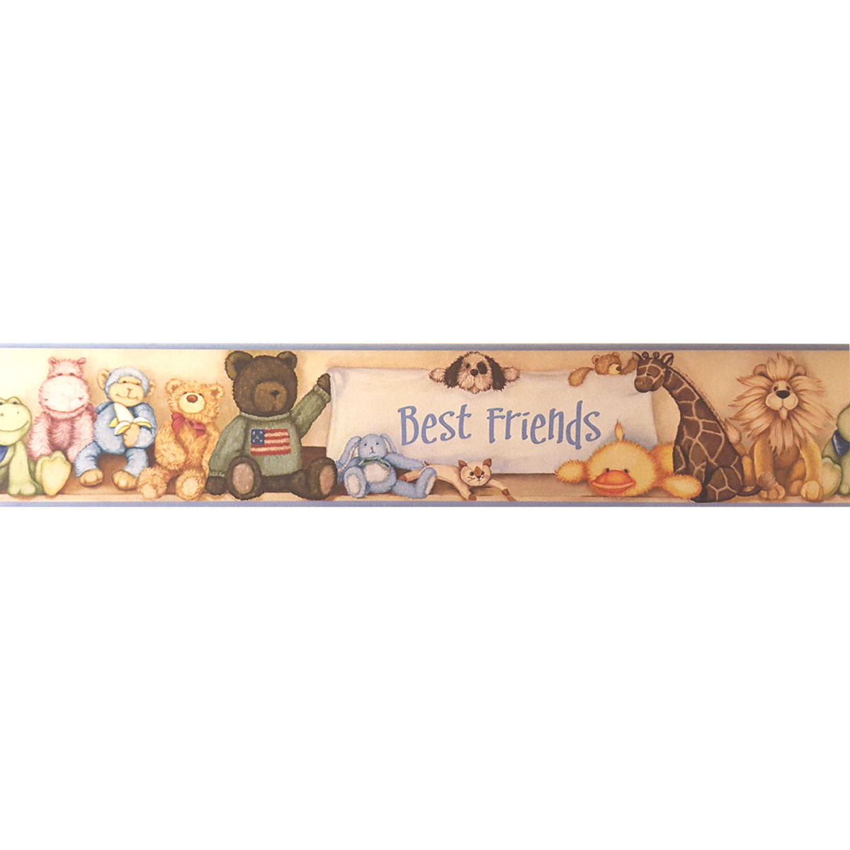 One Cuddle Buddies prepasted wall border measuring 9 inches (22.86 cm) x 5 yards (4.57 meters). #best