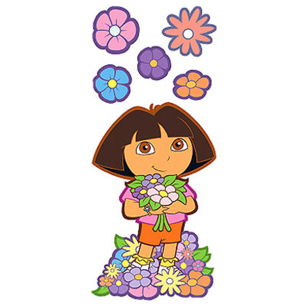 6pc Dora the Explorer Best Friends wall accent set. #best
