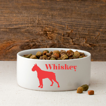 This heavy ceramic bowl features an attractive dog shaped silhouette and name. Over 40 different silhouette breeds are available. This ceramic dog food bowl is made specifically to suit the need of your smaller pet. Designed in a compact shape, this dog b #best