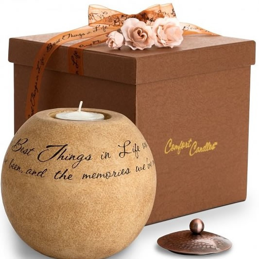 Bring reassuring warmth into their hearts and homes. This versatile candle holder holds a tea light and includes a beautiful copper lid. With its warm coloration and finish, the candle holder is perfect adding a decorative touch to any home. This candle h #best