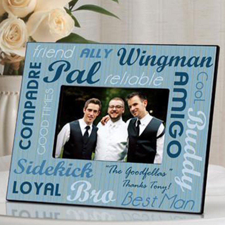 Your choice of groomsman, bestman or usher. - Our personalized Best Buds frame is the perfect way to commemorate a friendship and mark a special event. Attractive yet masculine, fashioned in shades of blue, this frame sports a variety of friendship lingo #best