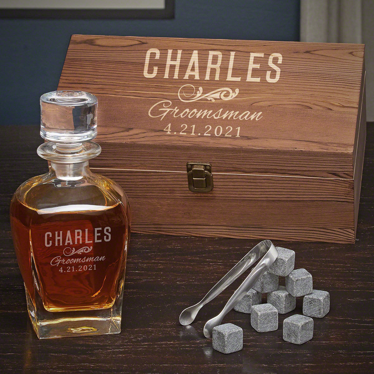 Your best man deserves a truly awesome gift as a thank you for standing by you at the altar and his long years of friendship. This personalized whiskey gift for best man is the perfect gift to show your appreciation. The set comes with a gift box, a liquo #best