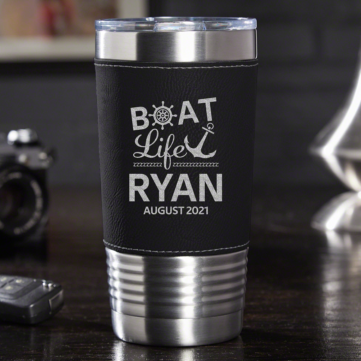 There's no feeling quite like the wind in your face and a clear view of the horizon while sailing your boat. However, it's even better with a personalized travel tumbler so that you can enjoy your favorite drink whether it's coffee or a Mai Tai as y #best