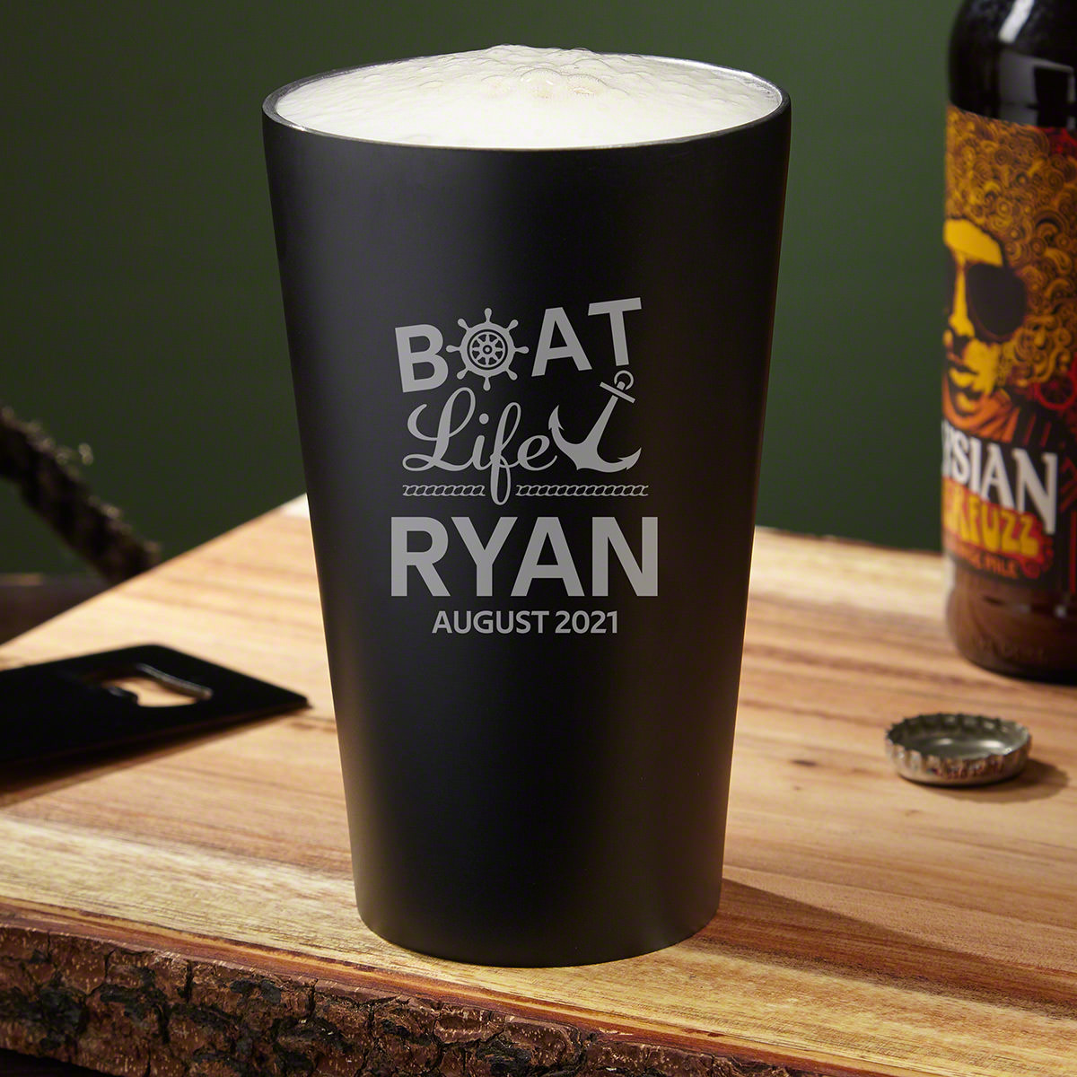 Innovations to classic glasses can make all the difference. To a traditional pint glass, the innovation to make it a customized stainless steel pint glass is a huge upgrade for boaters. This unconventional piece of glassware features vacuum-sealed, double #best