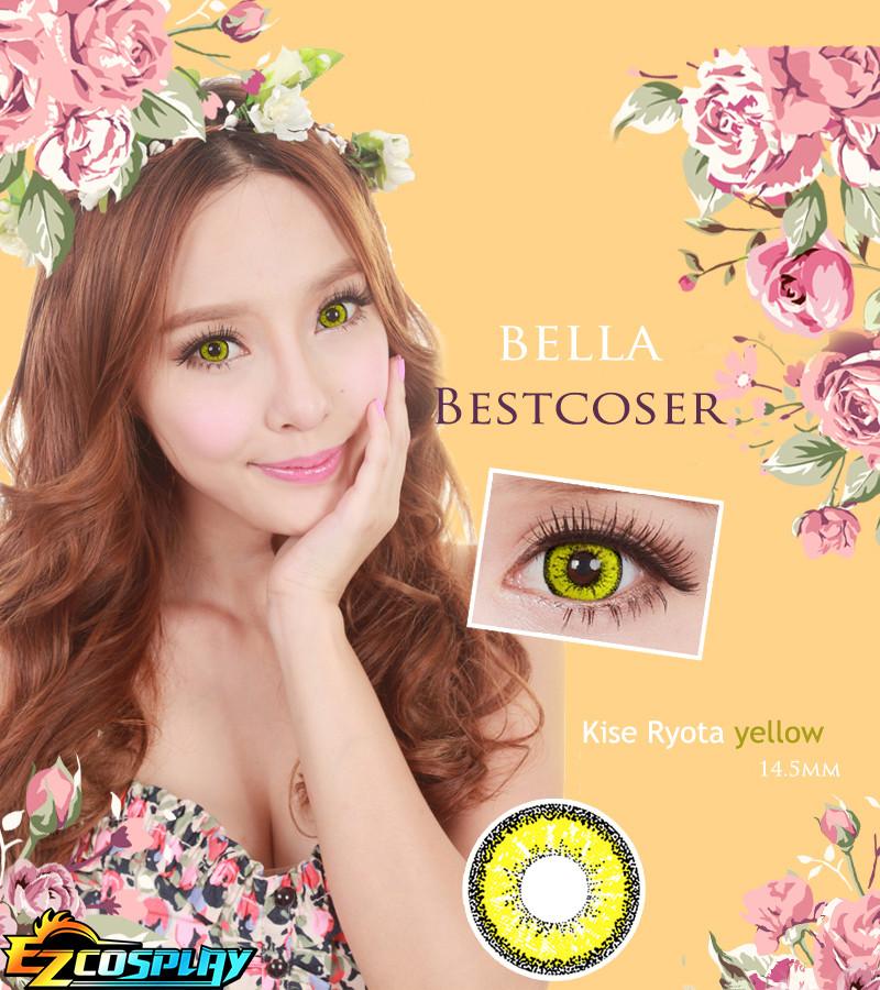 Bella Eye Best Coser Kuroko's Basketball Kise Ryota Yellow Cosplay Contact Lense #best
