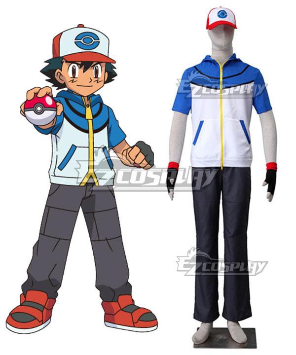 Pokémon Best Wishes Pokemon Pocket Monster Ash Ketchum Cosplay Costume #best