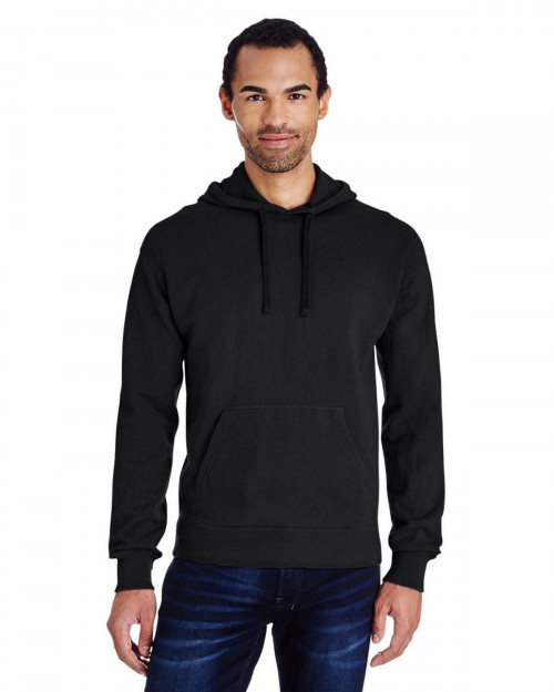 ComfortWash by Hanes GDH450 Unisex 80/20 Pullover Hood Sweatshirt - Black - S #%20