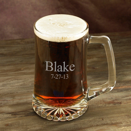 Classically styled with a comfortable handle and weighty bottom, this sports mug holds 25 fluid ounces of your favorite beverage. Personalized with two lines of up to 15 characters per line. #mug