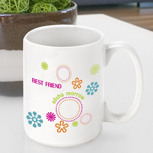 Brighten their morning with this fun mug! Put some groove in their morning brew with our custom Groovy coffee mug. This totally cool mug is sure to add some good vibes to their morning with its vibrant colors and whimsical designs. Personalize a coffee m #mug