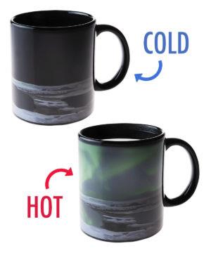 Northern Lights Heat Change Mug #mug