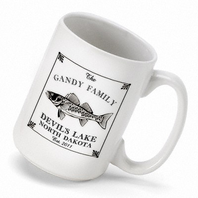 A handsome and unique gift for the fisherman in your life, this Walleye Mug is personal and affordable! Now he can enjoy a cup of his favorite beverage in style! This heavy duty mug is made of ceramic, dishwasher safe and holds 15 ounces. To make it even #mug