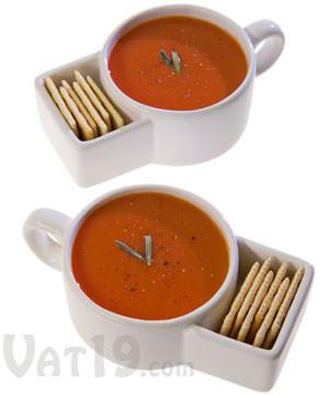 Soup & Cracker Mugs (set of 2) #mug