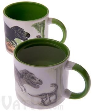 Disappearing Dinosaur Heat Change Mug #mug