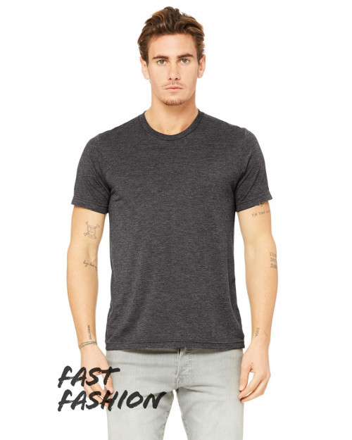 Bella + Canvas 3880C Fast Fashion Viscose Fashion Unisex T-Shirt - Dark Gry Heather - XS #fashion