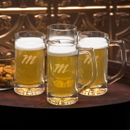 Traditional but with a contemporary twist, our personalized set of 4 13 oz. Tavern Beer Mugs are classic tankard-style glasses with a c-shaped handle and sturdy base. with plenty of room for a hearty helping of your favorite brand of frothy beverage, thes #mug