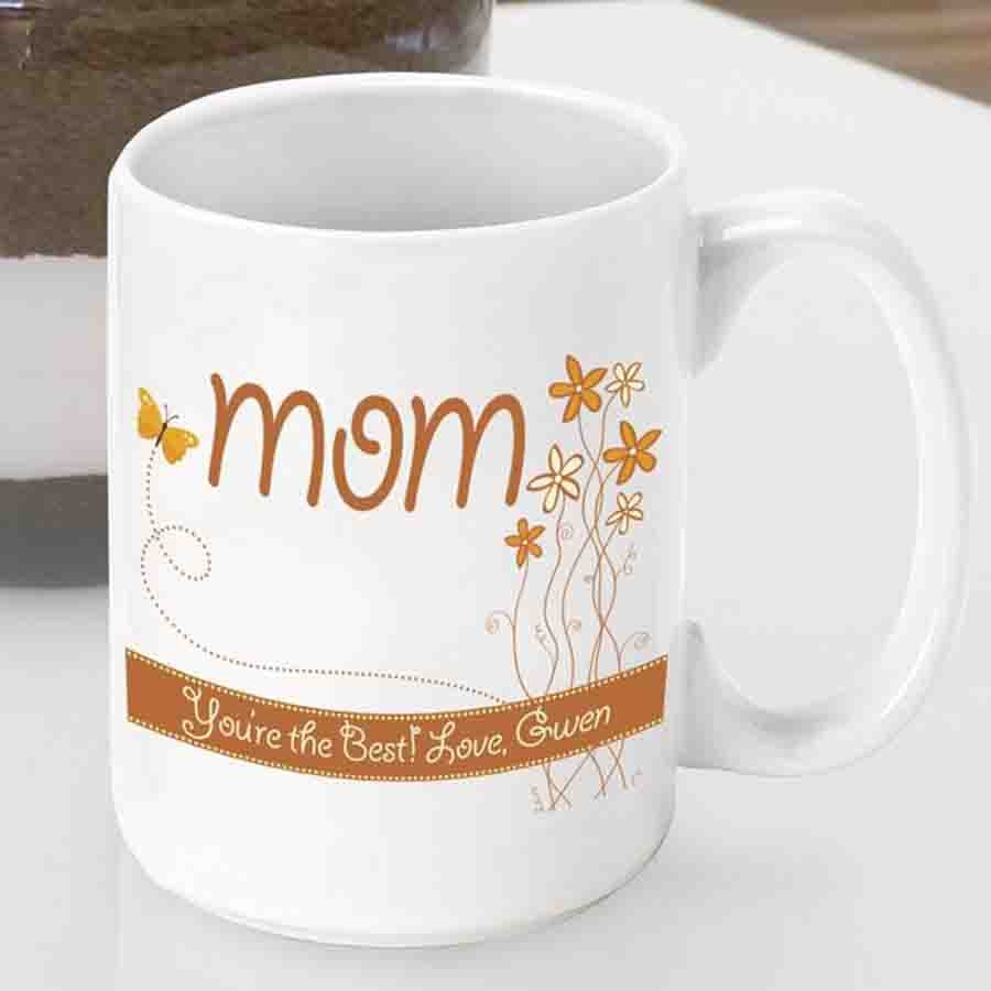 Show Mom how much you care right down to the last sip with a custom Mom mug! Now you can send Mom flowers that will last a lifetime! Our Breath of Spring mom mug features a sweet bouquet of spring flowers for an even sweeter mother. Now she can wake up ev #mug