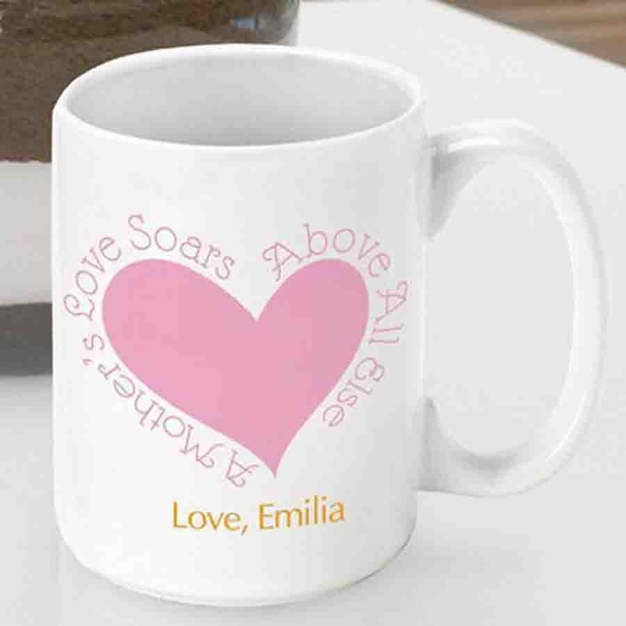 This 15 ounce ceramic Mom themed coffee mug will let Mom know how much you care with every sip. Celebrate her important role in your life with a sentimental mug for a great mom. Above all else, Mom provides a love that never fades, so provide her with a #mug