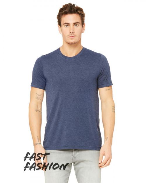 Bella + Canvas 3880C Fast Fashion Viscose Fashion Unisex T-Shirt - Heather Navy - XS #fashion