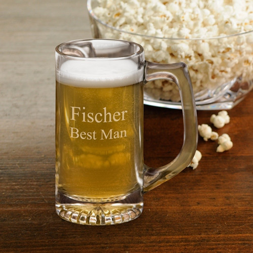 Customize this mug as a gift for family or friends! Quench your thirst with this hefty engraved mug. It holds 13 fluid ounces of your favorite beverage and makes a great personalized groomsmen gift or Father's Day gift. #mug