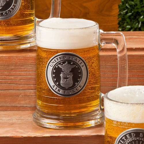 The tough construction of this beer stein makes it a wonderful addition to your home bar as it is customized with an Air Force emblem. Military men will love to own this Customized Air Force Beer Stein as it is designed to honor their bravery in its own #mug