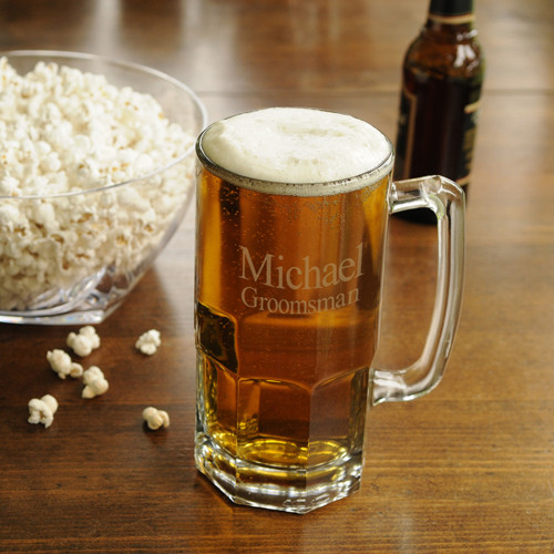 Thirsty? Enjoy a generous brew from this huge beer mug! Tossing a few back will no longer be necessary! Just one heaping helping from our Monster Beer Mug is sure to quench his thirst. This classic beer mug features a sturdy base and large handle for maki #mug