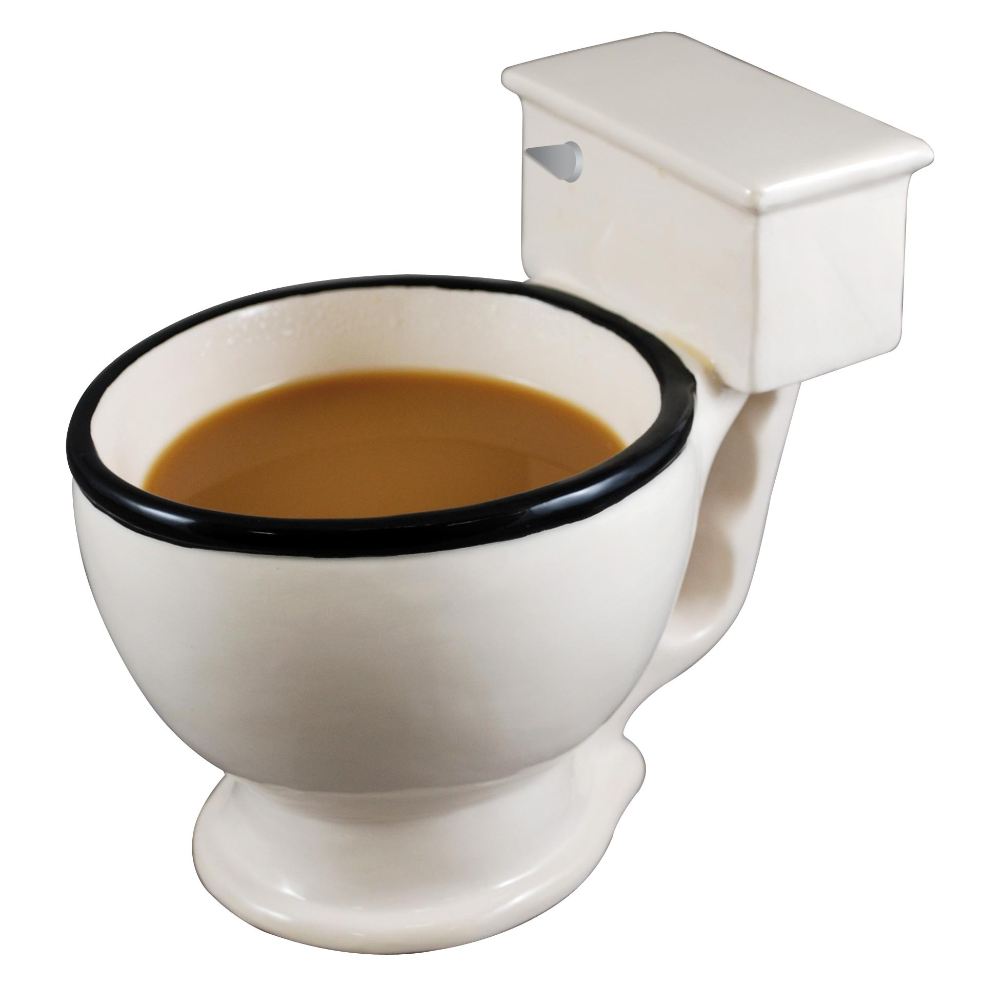 Potty mouth has a whole new meaning! Perfect for those mornings when you need an extra chuckle, or to lighten the mood when your day is going down the crapper, a toilet mug is the perfect potty partner. Crafted from ceramic and featuring a no-flush handle #mug