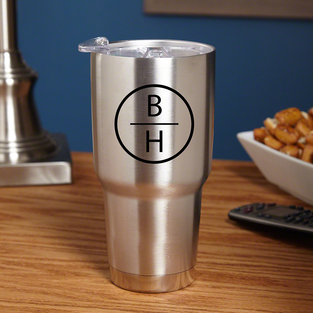 Nothing can ruin a day quite like lukewarm coffee. Never fear, the insulated tumbler is here! Crafted from 18/8 stainless steel, vacuum insulated, and double walled, this personalized tumbler can keep your beverages hot for up to six hours or cold for an #mug