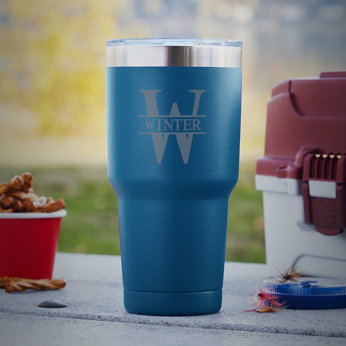 Whatever drew you to our Oakmont double-wall personalized travel mug, be it the color or design, you've landed on an amazing gift. Made from strapping 18/8 stainless steel, these Yeti-style tumblers are ready for action. The double-wall, vacuum insulated #mug