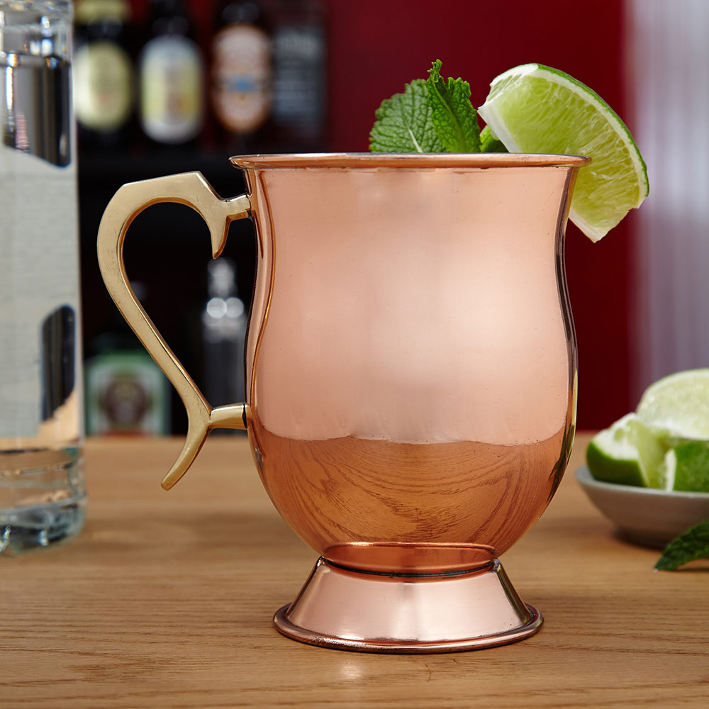 Give a distinctive gift to the sophisticated drinker in your life with our Ivan Moscow Mule copper mug. Perfect for traditional vodka cocktails, or any drink that deserves remarkable presentation, these copper mugs for Moscow Mules are protectively coated #mug
