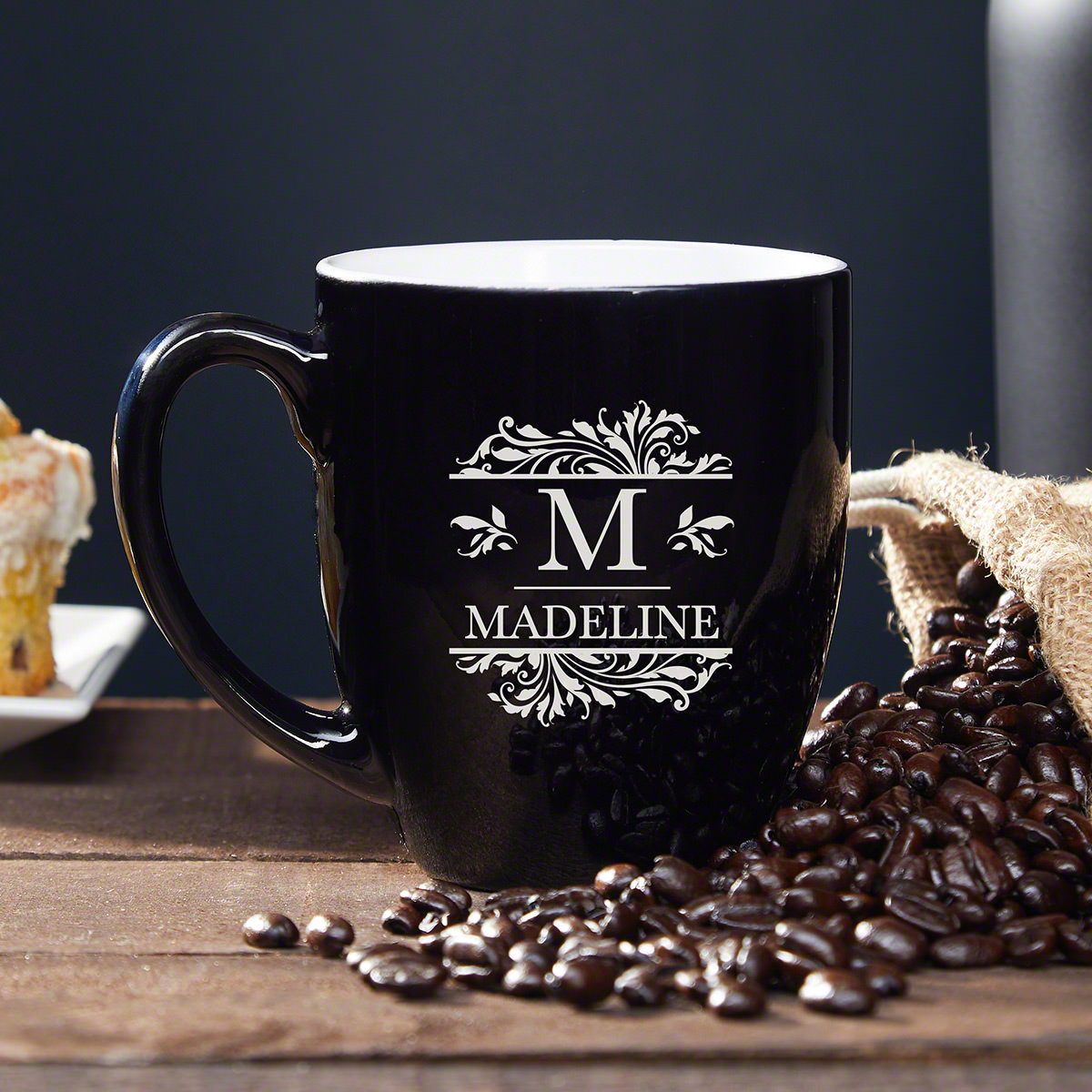 When it comes to drinking your morning cup of joe, having a great mug is important. This beautiful custom coffee mug is the best mug out there! It is engraved with an initial and a name, making it a lovely mug you'll want to use all the time. Crafted fr #mug