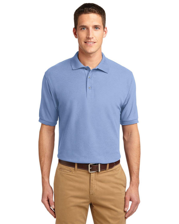 Port Authority K500 Men's Silk Touch Polo - Light Blue - XS #silk