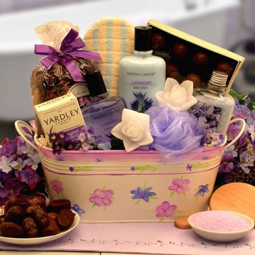 Tranquility, what better gift can you give than the Tranquility bath and spa gift basket? This lovely floral planter brings gifts of candles, chocolates and bath accessories to create a truly tranquil moment. Give the gift of tranquility with the Tranquil #gift