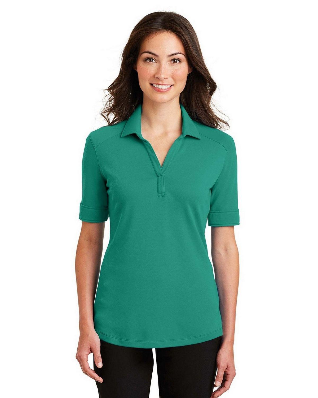 Port Authority L5200 Women's Silk Touch Interlock Performance Polo - Verdant Green - XS #silk