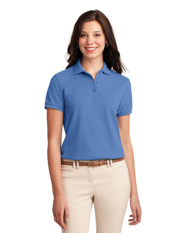 Port Authority L500 Women's Silk Touch Polo - Ultramarine Blue - XS #silk