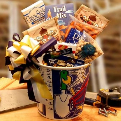 A Great Gift for Dad's Birthday or Fathers Day. Get your handyman this fabulous gift bucket! Mr. Fix-it is sure to get all those old chores or projects out of the way. Content Include: Mr. Fix It Paint Bucket Mr. Fix It Pistachios Jelly Belly Jelly Bea #gift
