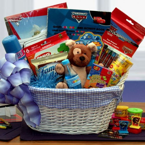 Deliver the Magic of Disney today with our Cars themed Disney Fun and Games gift basket. This Disney themed kids basket is perfect for a a little loved ones Birthday, a sick friend on the mend or no occasion at all. Disney Fun and Games Gift Basket Cont #gift