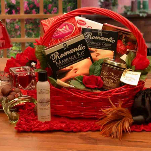 A great couple's gift. Perfect for bridal showers. Includes the best of sensuous treats including chocolates, romantic massage oils and even instructions for a great romantic evening. #gift