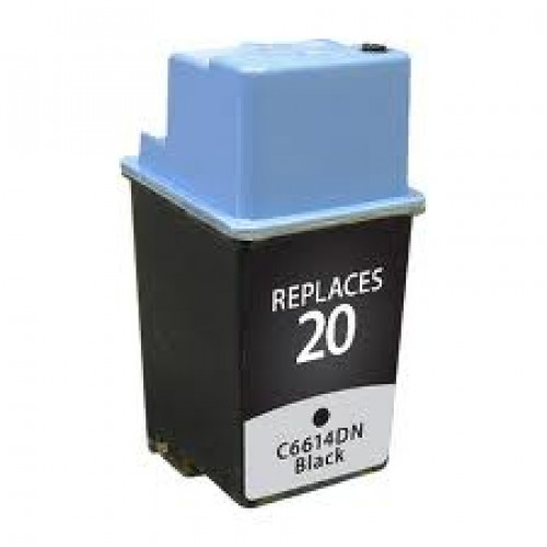 The Premium Value remanufactured replacement for the HP 20 (C6614DN) Black Inkjet Cartridge is designed to produce consistent, sharp output from your HP printer (see full compatibility below). The Premium Value C6614DN replacement ink cartridge is remanuf #%20