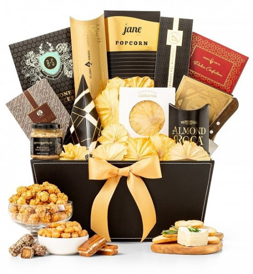 Give the gift of metropolitan fine style and tastes this holiday with our Elegant Offerings Gift Basket! This sleek and refined gourmet gift is the perfect fit for that person on your list who likes a bit of high-class. Filled to overflowing with a sumptu #gift