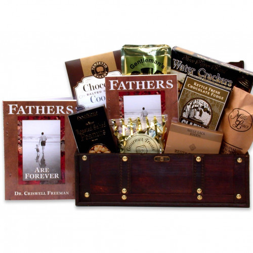 Features Fathers Are Forever Inspirational Book. Your love for Dad is timeless. Show him how much you care this Father's Day with this truly thoughtful gift that will continue giving for years to come. This keepsake wooden chest with latch is filled to ov #gift